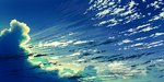 aoha_(twintail) blue blue_sky cloud cloudy_sky commentary_request day no_humans original outdoors scenery sky