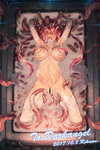 1girl all_the_way_through animal_ears ass_visible_through_thighs blindfold breasts cerberus_(shingeki_no_bahamut) clenched_teeth cum cum_in_pussy cum_on_hair cum_on_stomach dated elbow_gloves facial gloves heart heart-shaped_pupils in_mouth large_breasts long_hair lying navel nipple_penetration nipples on_back pussy red_hair restrained rikume shingeki_no_bahamut spread_legs stomach_bulge symbol-shaped_pupils teeth tentacles thighhighs torn_clothes torn_gloves torn_thighhighs twitching under_skin urethral_insertion vaginal