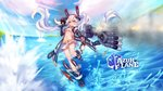1girl animal_ears arm_belt ass_visible_through_thighs azur_lane bangs bare_shoulders belt belt_buckle bent_over bikini_top black_belt black_coat black_hairband breasts buckle bullet bunny_ears chestnut_mouth coat commentary_request crossed_bangs detached_sleeves dual_wielding eyebrows fake_animal_ears fingernails floating_hair full_body gloves groin hair_between_eyes hairband highres holding hyanna-natsu laffey_(azur_lane) lavender_hair leg_belt legs_apart long_hair long_sleeves looking_at_viewer machinery miniskirt navel open_clothes open_coat open_mouth orange_eyes pleated_skirt purple_hair red_eyes searchlight skirt sleeveless sleeveless_coat small_breasts smoke solo sparkle spotlight stomach thighhighs torpedo torpedo_tubes turret twintails underwear very_long_hair wallpaper water white_belt white_bikini_top white_legwear white_skirt