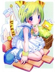 1girl :3 animal_ears cat_ears copyright_request dress highres pop solo
