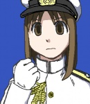 1girl azumanga_daiou clenched_hand cosplay gloves hat imperial_japanese_navy kasuga_ayumu lowres military military_uniform morichan solo uniform yamamoto_isoroku yamamoto_isoroku_(cosplay)