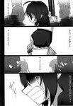 6+girls blew_andwhite comic crying greyscale highres kantai_collection monochrome multiple_girls page_number remodel_(kantai_collection) shigure_(kantai_collection) silhouette tears translated