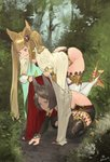 2girls bangs bent_over cape commentary_request erune granblue_fantasy hair_ornament high_heels highres metera_(granblue_fantasy) multiple_girls n9+ siblings sisters squatting sutera_(granblue_fantasy) thighhighs trail twintails