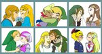 6+boys 6+girls bandana bangs blonde_hair blue_eyes blunt_bangs blush braid closed_eyes crying flower forehead_kiss full-face_blush grin hand_kiss hands_clasped hat highres hood hug instrument interlocked_fingers jewelry kiss link long_hair multiple_boys multiple_girls multiple_persona necklace noses_touching ocarina open_mouth own_hands_together pointy_ears princess_zelda profile shirt short_hair sidelocks smile sweatdrop tetra the_legend_of_zelda the_legend_of_zelda:_breath_of_the_wild the_legend_of_zelda:_ocarina_of_time the_legend_of_zelda:_skyward_sword the_legend_of_zelda:_spirit_tracks the_legend_of_zelda:_the_wind_waker the_legend_of_zelda:_twilight_princess thick_eyebrows tiara toon_link usushira waiting_for_kiss young_link