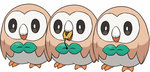animated beak bird black_eyes dedenne eating full_body no_humans nyori owl pokemon pokemon_(creature) pokemon_(game) pokemon_sm rowlet simple_background size_difference standing ugoira vore white_background
