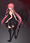 1girl :d anarchojs black_dress black_footwear black_legwear blood bloody_weapon boots dress floating_hair full_body garter_straps gasai_yuno hair_between_eyes hair_over_one_eye highres holding holding_phone holding_sword holding_weapon katana knee_boots long_hair looking_at_viewer mirai_nikki open_mouth phone pink_eyes pink_hair shadow short_dress sleeveless sleeveless_dress smile solo standing sword thighhighs twintails very_long_hair weapon