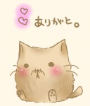 :3 animal blush cat cat_focus copyright_request heart no_humans original semiame translated