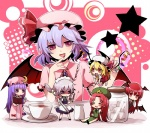 50yen 6+girls :< :d :o =_= annoyed apron bangs bat_wings beret blonde_hair blue_dress blue_hair blunt_bangs blush blush_stickers bow braid chibi china_dress chinese_clothes creamer_(vessel) crescent cup dress dress_shirt eyelashes fingernails flandre_scarlet floating green_dress hair_bow hand_to_own_mouth hat hat_bow head_wings hime_cut hong_meiling izayoi_sakuya jar knife knifed koakuma long_fingernails long_hair long_sleeves maid maid_headdress minigirl multiple_girls nail_polish necktie one_side_up open_mouth patchouli_knowledge purple_dress purple_eyes purple_hair red_eyes red_hair red_nails remilia_scarlet saucer shaded_face shirt short_hair short_sleeves side_braid side_slit sidelocks silver_hair sleeping smile spoon star striped striped_dress sugar_cube teacup touhou twin_braids vertical_stripes very_long_hair vest waist_apron white_shirt wings
