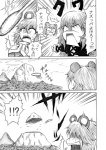 !? /\/\/\ animal_ears bad_id comic dragon_ball hidefu_kitayan hijiri_byakuren monochrome nazrin parody sweat touhou translated