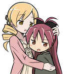 2girls lowres mahou_shoujo_madoka_magica mahou_shoujo_madoka_magica_movie multiple_girls rikugo sakura_kyouko tagme tomoe_mami translation_request