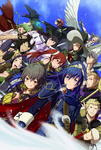 6+boys 6+girls :d absurdres animal_ears annotated armor azur_(fire_emblem) bad_id bad_pixiv_id black_hair blonde_hair blue_eyes blue_hair blush book braid breasts bredy_(fire_emblem) brown_eyes brown_hair bunny_boy bunny_ears cape chambray circlet cleavage crying cynthia_(fire_emblem) dark_skin degel dragon eudes_(fire_emblem) everyone falchion_(fire_emblem) fingerless_gloves fire_emblem fire_emblem:_kakusei fur fur_trim gauntlets glasses gloves green_eyes green_hair grey_hair hat highres jerome_(fire_emblem) large_breasts laurent long_hair lucina mamkute mark_(fire_emblem) mask matanonki minerva_(fire_emblem:_kakusei) multiple_boys multiple_girls nn_(fire_emblem) noire_(fire_emblem) one_eye_closed open_mouth orb pegasus pointing pointy_ears polearm purple_eyes purple_hair red_eyes red_hair robe scar selena_(fire_emblem) short_hair short_twintails side_braid smile sparkle staff sweatdrop sword symbol-shaped_pupils tears tongue twin_braids twintails weapon wings witch_hat