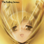 1girl album_cover blonde_hair cover drill_hair face goats_head_soup looking_at_viewer mahou_shoujo_madoka_magica open_mouth parody shingyouji_tatsuya solo the_rolling_stones tomoe_mami twin_drills yellow yellow_eyes