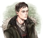 1boy bad_id black_hair chalkboard fur_collar herman_gottlieb kanapy math pacific_rim solo