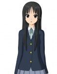 1girl 3d akiyama_mio black_eyes black_hair cel_shading hokusen k-on! school_uniform solo