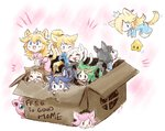 6+girls :3 animal_ears aqua_eyes black_eyes black_hair blonde_hair blue_eyes blue_hair blush box brown_hair cardboard_box cat_ears cat_girl cat_tail chibi chiko_(mario) doubutsu_no_mori dress fire_emblem for_adoption green_eyes green_hair hairband jigglypuff kid_icarus lucina mahoxyshoujo mario_(series) multiple_girls my_unit_(fire_emblem:_kakusei) one_eye_closed open_mouth palutena pink_hair pokemon pokemon_(creature) ponytail princess_peach princess_zelda rosetta_(mario) samus_aran silver_hair super_mario_bros. super_smash_bros. tail tears tiara villager_(doubutsu_no_mori) wii_fit wii_fit_trainer zero_suit