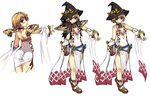 1girl ass blonde_hair character_sheet collage flat_chest hat pumpkin ragnarok_online short_hair solo sorcerer_(ragnarok_online) witch witch_hat xration