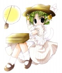 1girl dejiko di_gi_charat gema green_hair hat koge_donbo mary_janes shoes solo tail