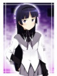 1girl akemi_homura akemi_homura_(cosplay) black_hair blush cosplay gokou_ruri hairband ikari_manatsu long_hair mahou_shoujo_madoka_magica md5_mismatch mole mole_under_eye ore_no_imouto_ga_konna_ni_kawaii_wake_ga_nai purple_eyes skirt solo