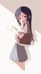 1girl aragaki_ayase bad_id black_eyes black_hair erolcy highres long_hair ore_no_imouto_ga_konna_ni_kawaii_wake_ga_nai school_uniform serafuku