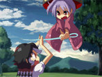2girls animated anime_coloring barefoot battle blade_catching blue_sky bowl bowl_hat clenched_teeth cloud commentary_request continue crying falling game_over gameplay_mechanics grand_theft_auto guilty_gear guilty_gear_xrd hat japanese_clothes kijin_seija kimono long_sleeves looking_up lowres multicolored_hair multiple_girls needle open_mouth puffy_short_sleeves puffy_sleeves purple_hair red_eyes sash sheath shocked_eyes shope short_sleeves sin_kiske sky slashing streaked_hair sukuna_shinmyoumaru tears touhou tree tsurime ugoira unsheathing wide_sleeves