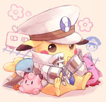 character_doll clefairy cosplay crayon galaxy_angel hat kudari_(pokemon) kudari_(pokemon)_(cosplay) necktie nobori_(pokemon) normad peaked_cap pikachu pokemon pokemon_(game) pokemon_bw torute wailord white_clothes