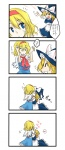 ! 2girls 4koma alice_margatroid blonde_hair blush comic hug kirisame_marisa multiple_girls myama petting touhou translated ze_(phrase)