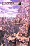 absurdres artist_name building clock clock_tower cloud crane day highres house huge_filesize k_kanehira landscape no_humans original outdoors pixiv_id scan scenery sky tower translation_request watermark web_address
