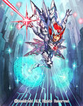 1boy armor armored_boots boots cardfight!!_vanguard cherokee_(1021tonii) company_name full_body gloves headband heat_wind_jewel_knight_cymbeline magic_circle male_focus official_art open_mouth red_eyes red_hair solo sparkle spiked_hair sword teeth weapon