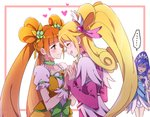 ... 4girls aida_mana blonde_hair blue_hair blush brown_eyes brown_hair choker closed_eyes cure_diamond cure_heart cure_rosetta cure_sword dokidoki!_precure earrings eyebrows eyebrows_visible_through_hair green_choker hair_ornament heart heart_earrings heart_hair_ornament hishikawa_rikka jealous jewelry kenzaki_makoto long_hair looking_at_another magical_girl multiple_girls negom open_mouth ponytail precure puffy_sleeves purple_hair short_sleeves smile speech_bubble spoken_ellipsis twintails yotsuba_alice yuri