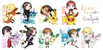 6+girls absurdres ada_wong aiming_at_viewer artist_request ashley_graham black_hair blonde_hair blue_eyes brown_eyes brown_hair carrying chibi choker claire_redfield commentary_request crossover dark_skin dress eevee english espeon fingerless_gloves flareon glaceon gloves green_eyes gun helena_harper highres hug jessica_sherawat jill_valentine jolteon leafeon leg_strap long_hair multiple_girls piggyback pointing pointing_at_viewer pokemon ponytail purple_eyes rebecca_chambers red_hair resident_evil scarf sherry_birkin sheva_alomar short_hair smile sylveon twitter_username umbreon vaporeon weapon wetsuit