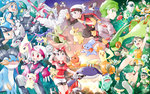 absol altaria backpack bag bandana banette beautifly bicycle blaziken blue_eyes brown_hair bubble bulbasaur butterfree camerupt castform cloud cloudy_sky combusken delcatty donphan eevee fingerless_gloves flygon gardevoir gasshou glasses gloves green_eyes green_hair haruka_(pokemon) hat highres jirachi magneton masato_(pokemon) masquerain microphone mightyena milotic minun mitsuru_(pokemon) mudkip munchlax ocean octillery odamaki_sapphire petals plusle pokemon pokemon_(anime) pokemon_(game) pokemon_rse pokemon_special red_eyes roselia ruby_(pokemon) short_shorts shorts shroomish skitty sky sleeveless sparkle squirtle sun swampert swellow torchic treecko tropius wailmer wigglytuff yuuki_(pokemon)