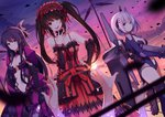 armor bodysuit date_a_live dress gun mecha_musume rizky_(strated) sword tobiichi_origami tokisaki_kurumi weapon yatogami_tooka