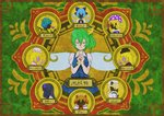 6+girls black_hair blonde_hair blue_hair blue_shirt blue_vest byoubyou99 cirno closed_eyes clownpiece commentary_request covering_ears covering_eyes covering_mouth daiyousei eternity_larva fairy fairy_wings green_background green_hair hair_ornament hair_ribbon hands_clasped hands_on_own_chest hands_over_eyes hands_over_mouth hands_together hat highres jester_cap lily_black lily_white long_hair long_sleeves luna_child multiple_girls orange_hair own_hands_together purple_skin ribbon shaded_face shadowed shirt short_hair short_sleeves side_ponytail silhouette star_sapphire sunny_milk symbol torch touhou vest white_shirt wings yellow_neckwear