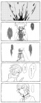 ... 5koma blood blood_on_face bloody_clothes charlotte_(madoka_magica) comic doujinshi fangs genderswap highres kurono_yuu mahou_shoujo_madoka_magica mami_mogu_mogu monochrome open_mouth personification profile sketch tears tomoe_mami translated