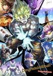 animal_ears armor bald beerus black_eyes black_hair blonde_hair bruise cape cat_ears child congratulations dated dougi dragon_ball dragon_ball_(object) dragon_ball_z earrings egyptian_clothes energy_ball facial_mark floating_rock forehead_mark frieza injury jacket jewelry kim_yura_(goddess_mechanic) kuririn majin_buu multiple_persona nappa one_eye_closed paneled_background piccolo_daimaou scouter shirtless signature son_gohan son_gokuu sparkle speed_lines staff super_saiyan torn_clothes trunks_(dragon_ball) vegeta younger
