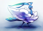 altaria beak blue commentary_request creature dragon eyelashes feathered_wings fur hitec monster no_humans pokemon pokemon_(creature) solo standing tail wings