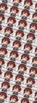 1girl >_< brown_hair closed_eyes commentary_request crescent crescent_moon_pin gradient_hair green_sailor_collar happy highres jacket kantai_collection multicolored_hair mutsuki_(kantai_collection) neckerchief ootori_(kyoya-ohtori) open_mouth red_hair red_neckwear remodel_(kantai_collection) sailor_collar school_uniform serafuku short_hair smile speed_lines upper_body wallpaper