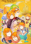 1girl 6+boys bandages bill_weasley bird blue_eyes book car charlie_weasley dragon family fred_weasley george_weasley ginny_weasley goggles goggles_on_head ground_vehicle harry_potter motor_vehicle multiple_boys orange_hair owl percy_weasley rainbow ron_weasley rubber_duck scarf scroll siblings silk skyness spider spider_web vehicle yarn