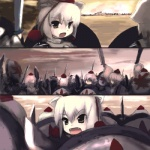 300 6+girls animal_ears aspis chipika clone hat hoplite inubashiri_momiji leaf lowres multiple_girls oekaki open_mouth parody phalanx shield soldiers sword touhou war weapon wolf_ears