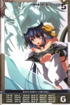 2girls absurdres blue_hair breast_rest breasts breasts_on_head choker cleavage dizzy guilty_gear highres inoue_takumi large_breasts multiple_girls queen's_gate red_eyes thighhighs undine_(guilty_gear)