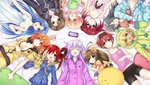 5pb_(choujigen_game_neptune) 6+girls :d ;d ^_^ absurdres ahoge animal_ears bell bike_shorts blonde_hair bow breasts broccoli_(choujigen_game_neptune) brown_hair cave_(choujigen_game_neptune) circle_formation cleavage closed_eyes compa cyberconnect2_(choujigen_game_neptune) d-pad falcom_(choujigen_game_neptune) game_cg gema green_eyes hair_bow hair_ornament hairband highres if_(choujigen_game_neptune) long_hair lying marvelousaql_(choujigen_game_neptune) multiple_girls nepgear neptune_(series) official_art on_back one_eye_closed open_mouth orange_hair pajamas purple_eyes purple_hair red_(choujigen_game_neptune) red_eyes red_hair short_hair smile symbol-shaped_pupils tekken_(choujigen_game_neptune) tsunako twintails