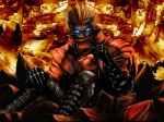 1boy artist_request epic glasses glowing glowing_eyes male_focus solo trigun vash_the_stampede wallpaper