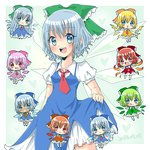 1girl :< :> :d :o :q achi_cirno alternate_color alternate_element alternate_hair_length alternate_hairstyle aqua_eyes blonde_hair blue_bow blue_dress blue_eyes blue_hair bow cherry_blossoms chibi cirno commentary dated dress electrical_wings fiery_wings flower green_bow green_dress green_hair green_wings grin hair_bow hapa_cirno heart ice ice_wings ikazu_cirno leaf_wings long_hair looking_at_viewer multiple_persona necktie open_mouth orange_bow orange_dress orange_hair pink_bow pink_dress pink_hair plant_wings puffy_short_sleeves puffy_sleeves red_bow red_dress red_eyes red_hair riruno_(violetaluna) sakura_cirno short_hair short_sleeves skirt_hold smile sunflower tan tanned_cirno tongue tongue_out touhou variations very_long_hair wings yellow_dress