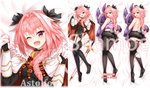 1boy :d ;d artist_name ass astolfo_(fate) bangs bare_arms bare_shoulders bed_sheet belt black_bow black_gloves black_legwear black_panties black_shirt black_skirt blush bow braid buckle bulge censored character_name chinese_commentary close-up commentary_request dakimakura emblem eyebrows_visible_through_hair fang fate/apocrypha fate_(series) from_above full_body fur-trimmed_cloak fur_collar garter_straps gauntlets gloves gold_trim gorget hair_between_eyes hair_bow hair_intakes hair_over_shoulder hands_up heart heart_censor holding holding_jacket horizontal-striped_shirt horizontal_stripes horn_(instrument) jacket jacket_removed knees_together_feet_apart long_hair long_sleeves looking_at_viewer looking_back loose_belt lying male_focus miniskirt multicolored_hair multiple_views no_pants no_shoes on_back on_stomach one_eye_closed open_mouth otoko_no_ko panties panties_under_pantyhose pantyhose penis_in_panties pink_hair pixiv_id pixiv_username pleated_skirt portrait purple_eyes purple_shirt pxf raised_eyebrows shirt single_braid skirt skirt_lift sleeveless sleeveless_shirt smile soles streaked_hair striped striped_shirt sword tank_top thighhighs toes topless torn_clothes torn_pantyhose turtleneck two-tone_hair underwear watermark weapon white_cloak white_hair
