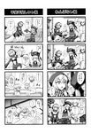... 1boy 2girls 4koma ? ^_^ absurdres admiral_(kantai_collection) amputee architecture backpack bag bare_legs bare_shoulders bathing blush chin-chin choker closed_eyes comic destroyer_hime east_asian_architecture futon gloves greyscale hat highres hood hooded_jacket hoodie jacket kantai_collection midriff military military_uniform minarai monochrome multiple_4koma multiple_girls naval_uniform o-ring o-ring_top outstretched_arm pale_skin re-class_battleship sailor_collar scarf school_uniform serafuku shared_bathing sharp_teeth shinkaisei-kan shorts sleeping smile spoken_ellipsis spoken_question_mark striped striped_scarf teeth translated uniform white_skin