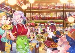 agravain_(fate/grand_order) ahoge alcohol altera_(fate) altera_the_santa anastasia_(fate/grand_order) angry animal_ears apron artemis_(fate/grand_order) artoria_pendragon_(all) artoria_pendragon_(swimsuit_ruler)_(fate) asclepius_(fate/grand_order) ashwatthama_(fate/grand_order) assassin_(fate/stay_night) atalanta_(fate) bandages bartender bartholomew_roberts_(fate/grand_order) bedivere beer benienma_(fate/grand_order) beowulf_(fate/grand_order) berserker black_hair blonde_hair blue_hair blush board_game boudica_(fate/grand_order) bow bowl braid calamity_jane_(fate/grand_order) caligula_(fate/grand_order) carmilla_(swimsuit_rider)_(fate) carrying caster_lily character_request chips chonmage christopher_columbus_(fate/grand_order) circe_(fate/grand_order) cleopatra_(fate/grand_order) commentary_request covered_eyes cu_chulainn_(fate)_(all) cu_chulainn_alter_(fate/grand_order) cup dragon_horns drinking_glass drunk earrings eating edward_teach_(fate/grand_order) elizabeth_bathory_(fate)_(all) enkidu_(fate/strange_fake) everyone eyebrows_visible_through_hair facial_hair fang fate/apocrypha fate/extra fate/extra_ccc fate/grand_order fate/prototype fate/prototype:_fragments_of_blue_and_silver fate/stay_night fate/strange_fake fate_(series) fergus_mac_roich_(fate/grand_order) fighting fish food fou_(fate/grand_order) fox_ears fruit fujimaru_ritsuka_(female) fujimaru_ritsuka_(male) gareth_(fate/grand_order) gawain_(fate/extra) gilgamesh glass glasses go gray_(lord_el-melloi_ii) green_hair grilled_fish hair_bow hair_ornament hair_over_one_eye hair_ribbon hanging_light hat head_wings headband headdress hector_(fate/grand_order) highres hijikata_toshizou_(fate/grand_order) holding holding_person hoop_earrings horns indoors ishtar_(fate)_(all) james_moriarty_(fate/grand_order) japanese_clothes jason_(fate/grand_order) jeanne_d'arc_(fate) jeanne_d'arc_(fate)_(all) jeanne_d'arc_alter_santa_lily jewelry jing_ke_(fate/grand_order) julius_caesar_(fate/grand_order) kadoc_zemlupus kama