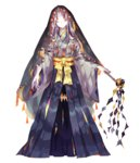 androgynous bad_id bad_pixiv_id closed_eyes full_body gen_3_pokemon hakama horn japanese_clothes lemming_no_suana ofuda ofuda_on_clothes personification pokemon shawl shide shuppet solo standing white_hair wide_sleeves