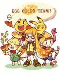 :d >_< animal_ears baseball_cap blonde_hair blush blush_stickers closed_eyes color_connection dog_ears dog_girl dog_tail doubutsu_no_mori egg english furry gen_1_pokemon hair_ornament hat holding inkling jacket jewelry long_hair lucas mother_(game) mother_2 mother_3 one_eye_closed open_mouth pac-man pac-man_(game) pac-man_eyes party_popper pikachu pokemon pokemon_(creature) pokemon_(game) shirt shizue_(doubutsu_no_mori) skirt smile splatoon_(series) splatoon_2 squid squidbeak_splatoon striped striped_shirt super_smash_bros. super_smash_bros._ultimate tail teijiro tentacle_hair topknot vest xd yellow yellow_vest