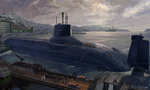 boat building cloud cloudy_sky commentary_request dock harbor military ocean pier ranpota russia russian scenery ship sky submarine the_hunt_for_red_october water watercraft