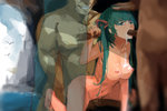 1girl 362203 3boys bird breasts cum cum_in_mouth cum_on_body cum_on_breasts cum_on_upper_body fellatio gangbang green_eyes green_hair grin group_sex hand_on_another's_head handjob hatsune_miku hetero long_hair medium_breasts multiple_boys multiple_penises nipples nude oral penis sex smile twintails vaginal vocaloid